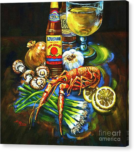 Louisiana Canvas Print - Crawfish Fixin's by Dianne Parks