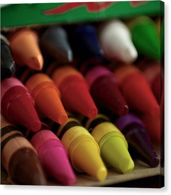 Imaginative Canvas Print - Crayons Beautiful Items That Can Bring by Angela Ahrens