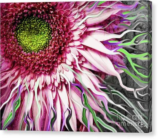 Surreal Digital Art Canvas Print - Crazy Daisy by Christopher Beikmann