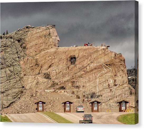 ...entrance Crazy Horse Memorial South Dakota.... Canvas Print