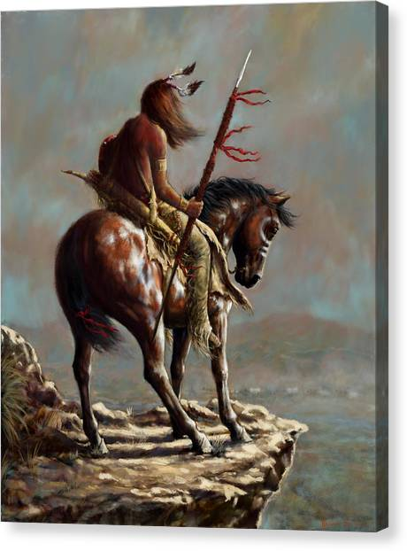Crazy Horse_digital Study Canvas Print