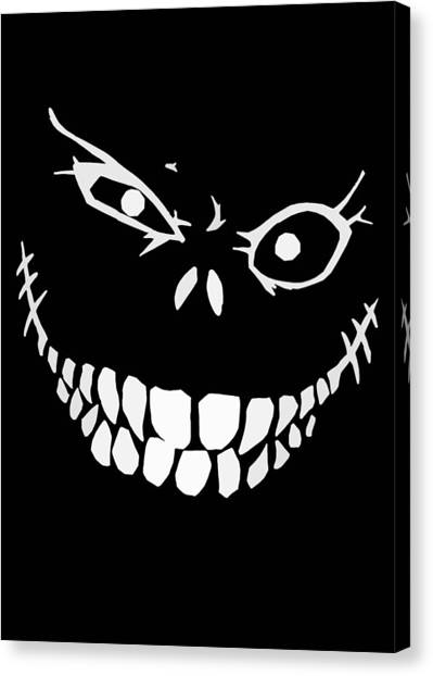 Skulls Canvas Print - Crazy Monster Grin by Nicklas Gustafsson