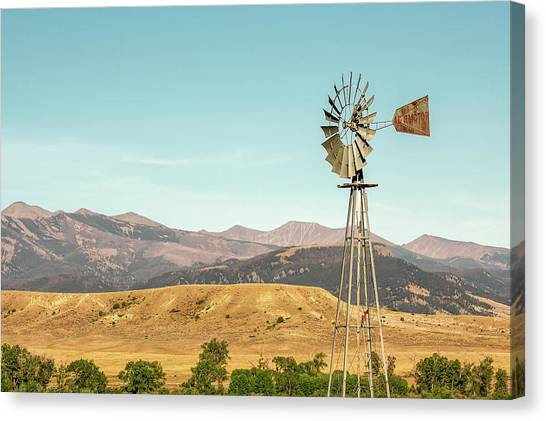 Mountain West Canvas Print - Crazy Mountain Windmill by Todd Klassy