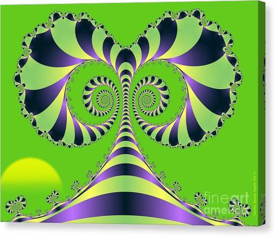Canvas Print featuring the digital art Crazy Tree  by Sandra Bauser Digital Art