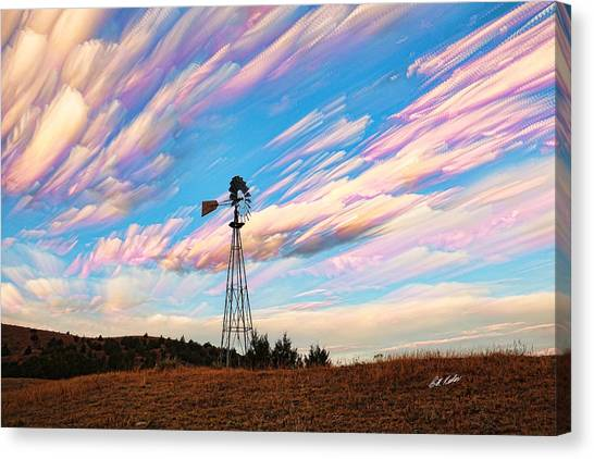 Crazy Wild Windmill Canvas Print