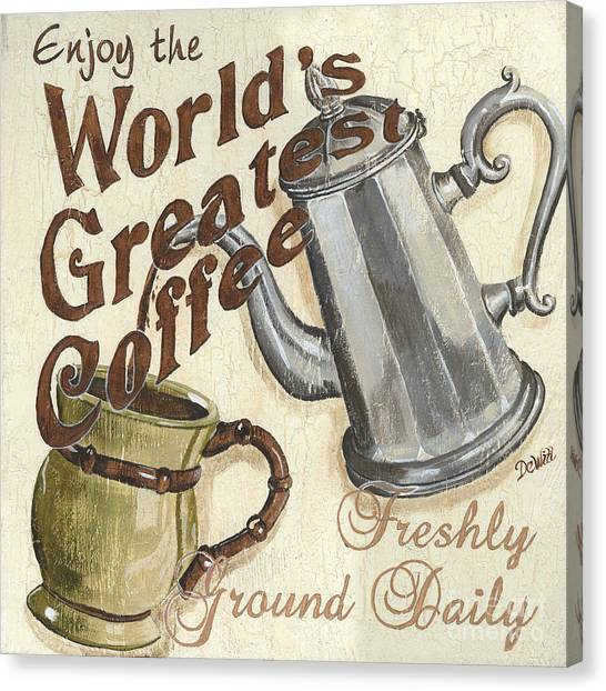Cafes Canvas Print - Cream Coffee 1 by Debbie DeWitt