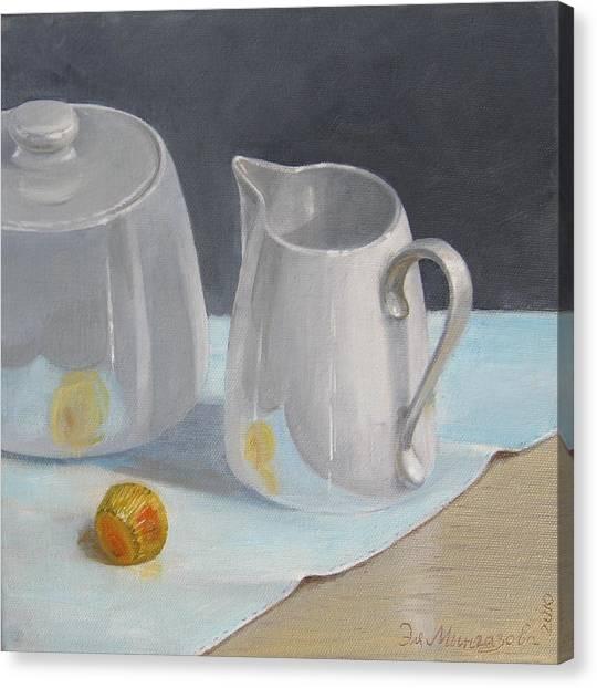 Creamer  Canvas Print by Eleonora Mingazova