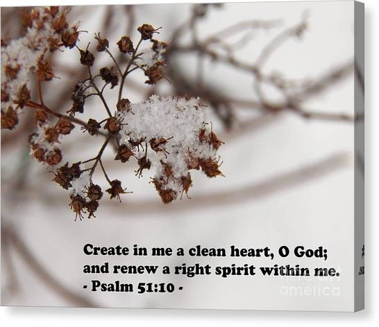 Create In Me A Clean Heart Canvas Print