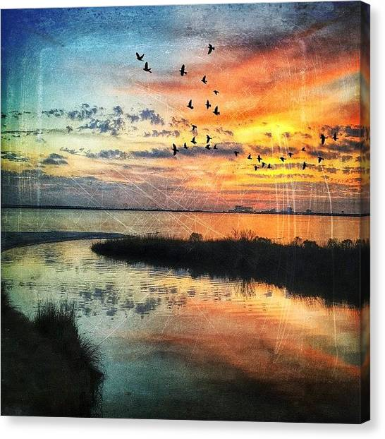 Landscapes Canvas Print - Created With #distressedfx #reflection by Joan McCool
