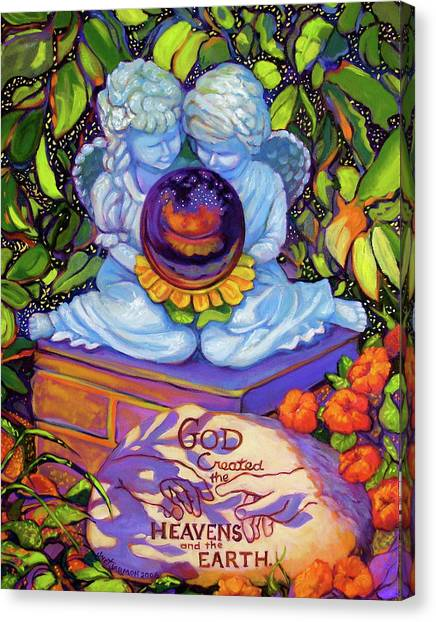 Canvas Print featuring the painting Garden Wisdom 1-creation by Jeanette Jarmon