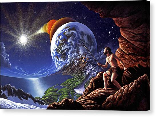 Prehistoric Canvas Print - Creation by Jerry LoFaro