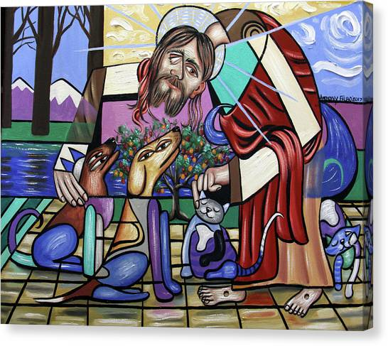 Cubism Canvas Print - Creation, On Earth As It Is In Heaven by Anthony Falbo