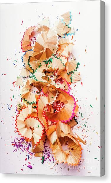 Pencil Art Canvas Print - Creative Mess by Jorgo Photography - Wall Art Gallery