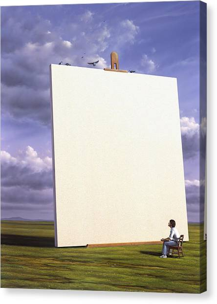 Conceptual Art Canvas Print - Creative Problems by Jerry LoFaro
