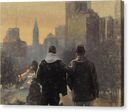 Sylvester Stallone Canvas Print - Creed by Dan Sproul