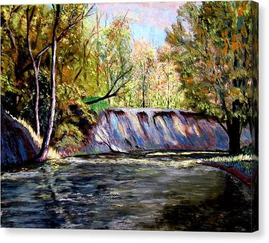 Creek Bank Canvas Print by Stan Hamilton