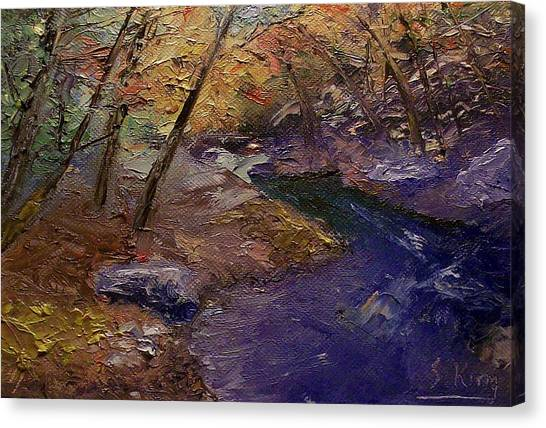 Creek Bank Canvas Print