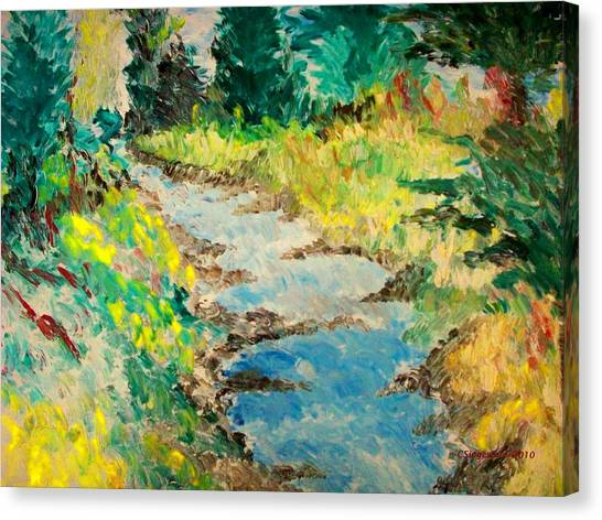 Creek Canvas Print by Cary Singewald