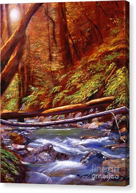 Orange Tree Canvas Print - Creek Crossing by David Lloyd Glover