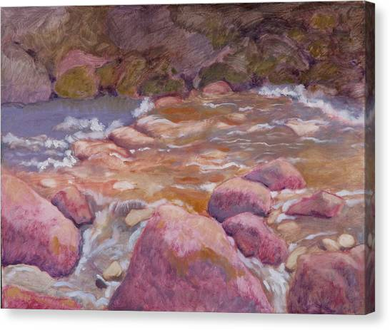 Creek In Spring Canvas Print by Robert Bissett