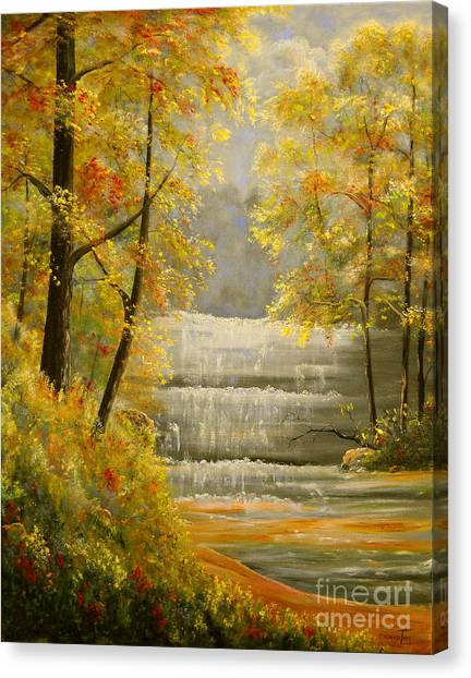 Creek Retreat Xii Canvas Print by Connie Tom