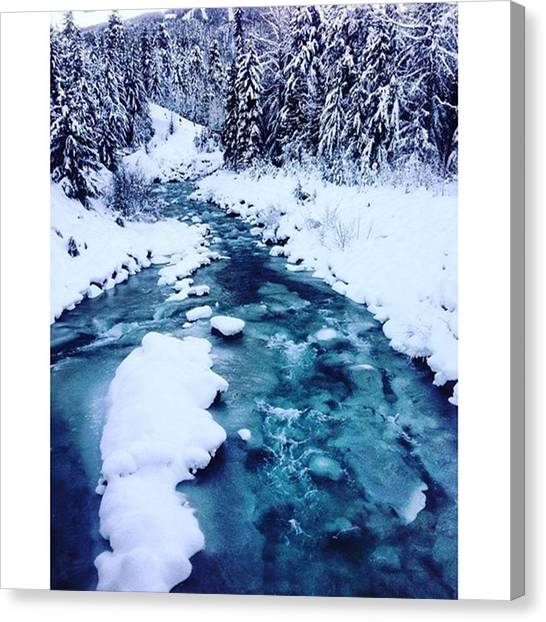 Water Skis Canvas Print - Frozen Creek by Outdoor Explorers