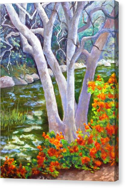 Creekside Canvas Print by Dorothy Nalls