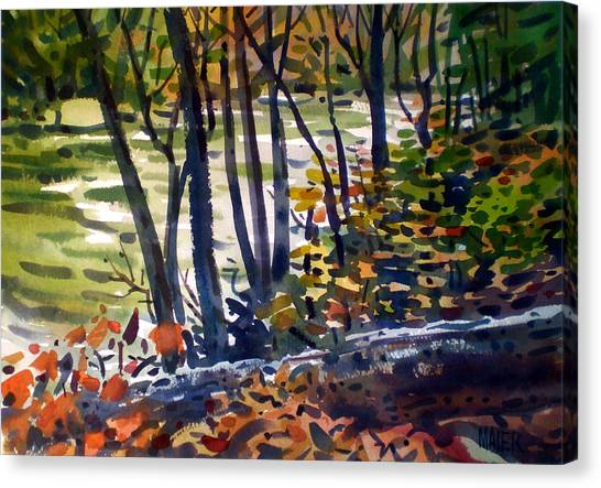 Creekside Tranquility Canvas Print by Donald Maier
