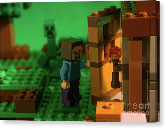 Minecraft Canvas Print - Creeper In Our Wake by Candace Steele