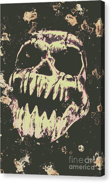 Jaws Canvas Print - Creepy Face From Nightmares Past by Jorgo Photography - Wall Art Gallery