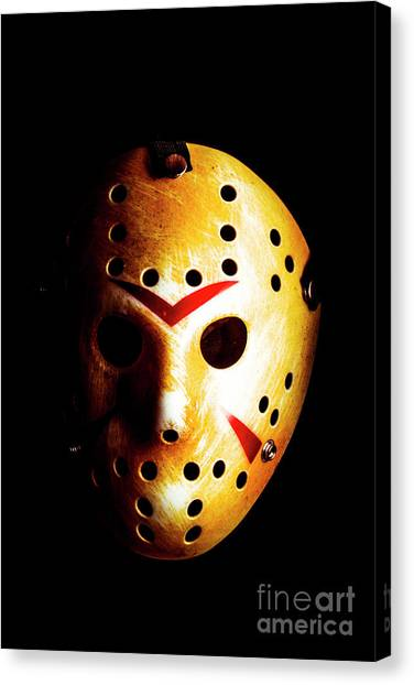 Hockey Players Canvas Print - Creepy Keeper by Jorgo Photography - Wall Art Gallery