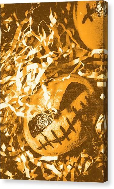 Pumpkins Canvas Print - Creepy Vintage Pumpkin Head  by Jorgo Photography - Wall Art Gallery