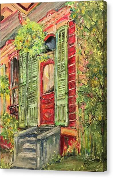 Creole Painted Lady In The Marigny Canvas Print