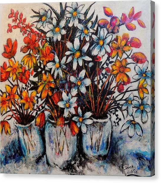 Crescendo Of Flowers Canvas Print