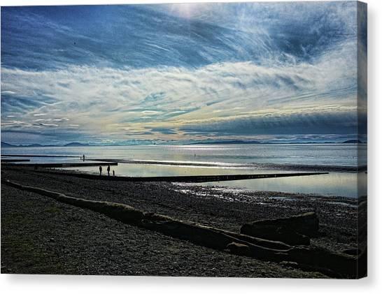 Crescent Beach At Dusk Canvas Print
