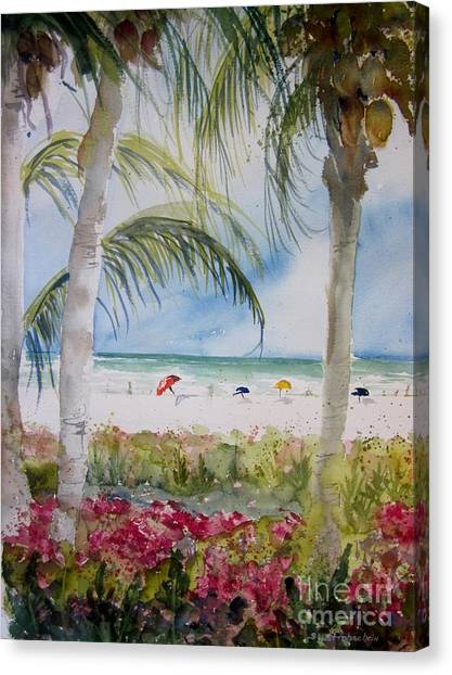 Crescent Beach Marco Island Canvas Print