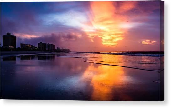 Crescent Beach Sunrise Canvas Print