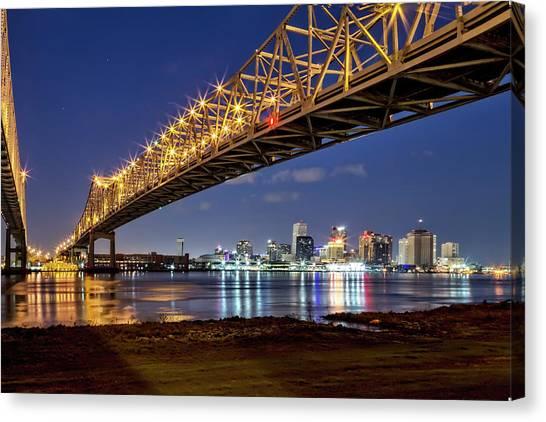 Crescent City Bridge, New Orleans Canvas Print