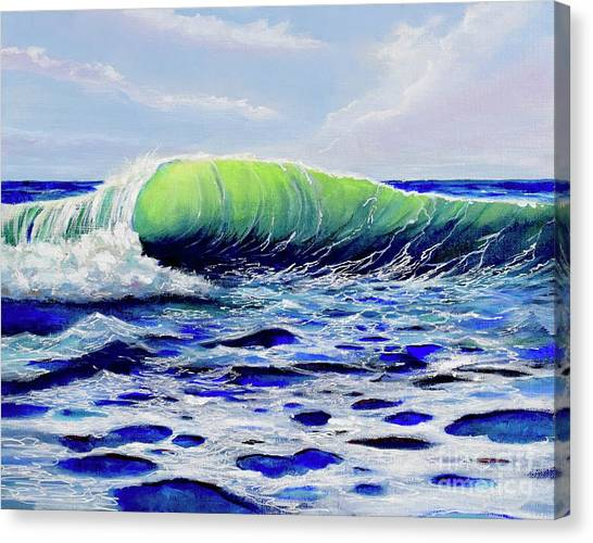 Canvas Print featuring the painting Cresting Wave by Mary Scott