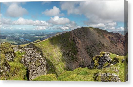 Snowdon Canvas Print - Crib Goch Mountain by Adrian Evans