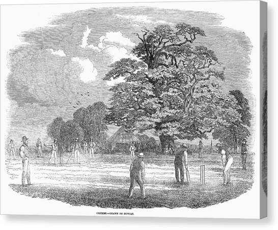 Cricket Players Canvas Print - Cricket Match, 1850 by Granger