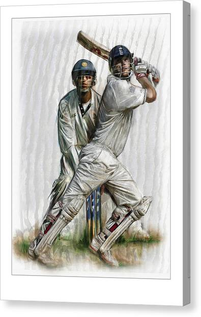 Cricket2 Canvas Print by James Robinson