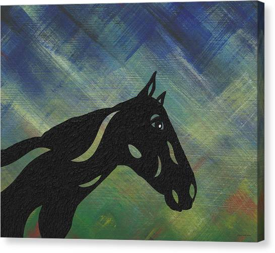 Crimson - Abstract Horse Canvas Print