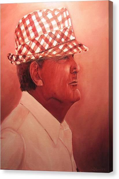 Crimson Bear Canvas Print by Sheila Gunter