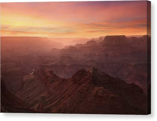 Crimson Canyon Canvas Print by Adam Schallau