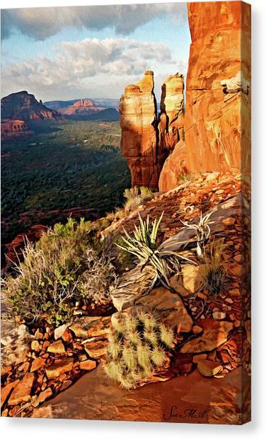 Crimson Cliffs 08-064 Canvas Print