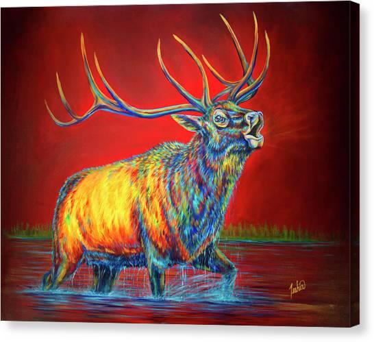 Crimson Cries Canvas Print