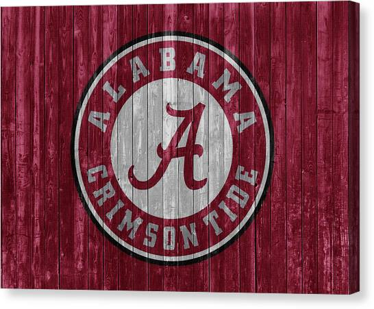 The University Of Alabama Canvas Print - Crimson Tide Barn Door by Dan Sproul