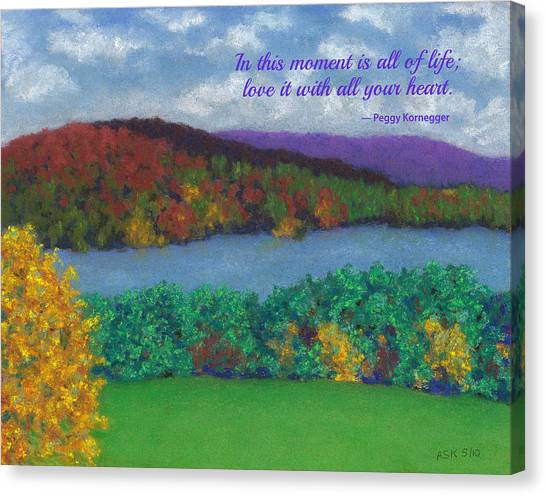 Crisp Kripalu Morning - With Quote Canvas Print