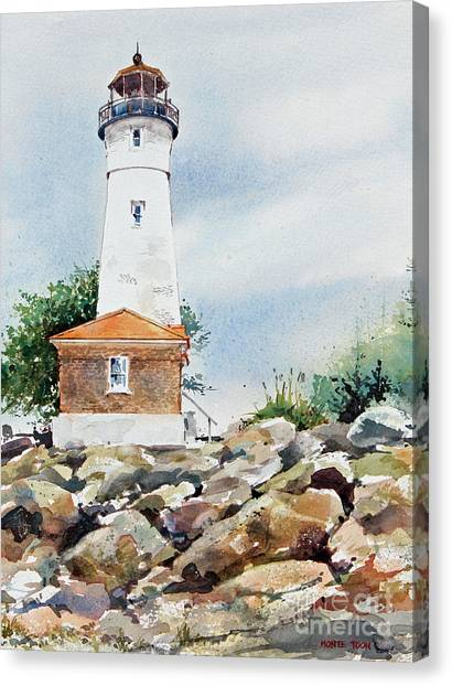 Crisp Lighthouse Canvas Print
